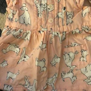 Carter's Dresses - Carters cap sleeve doggy dress